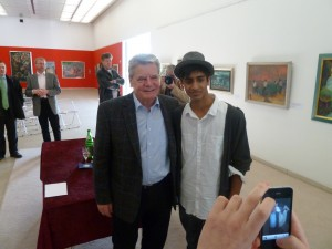 Bharat Bhaskar bei Joachim Gauck