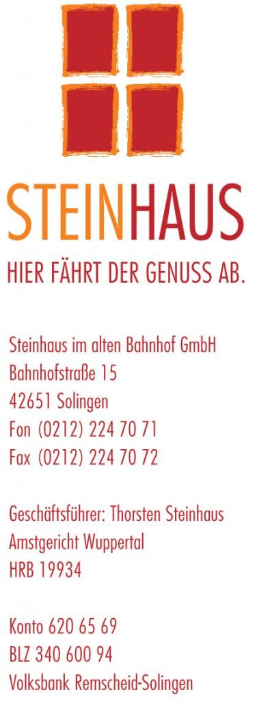 Steinhaus Bild. Werbung des Betreibers für einen Spielort.